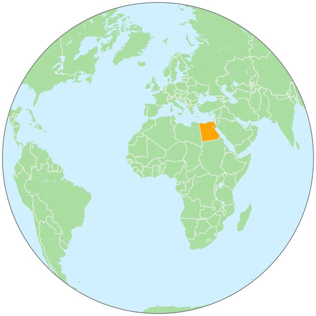 Egypt On Globe GeographyCountryMapsgloballocationAfrica - Map of egypt on the globe
