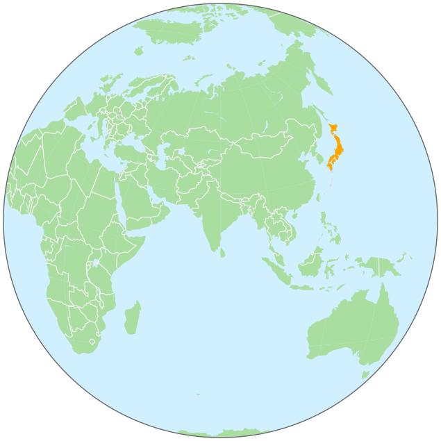 Japan On Globe Geographycountrymapsgloballocationasia: Japan Globe Map At Infoasik.co