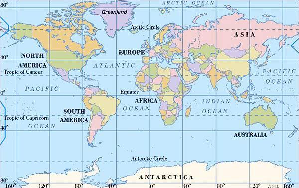 Equator Map MAP2