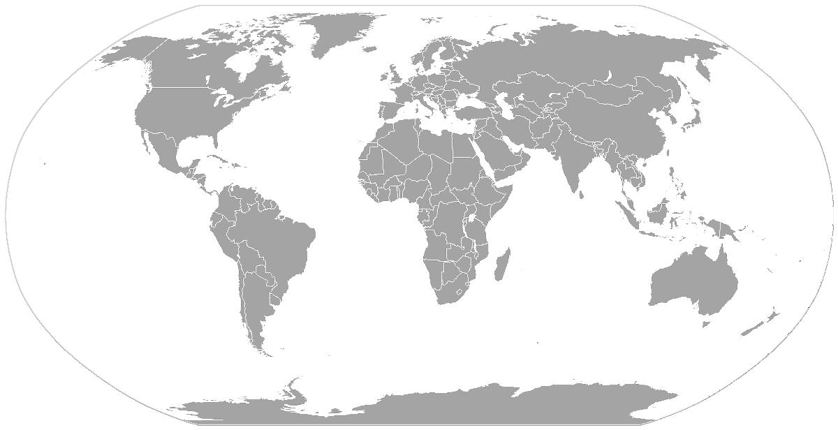 World Map Gray Geography World Maps World Map Gray Png Html