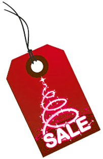 Holiday Sale Tag Tree Red