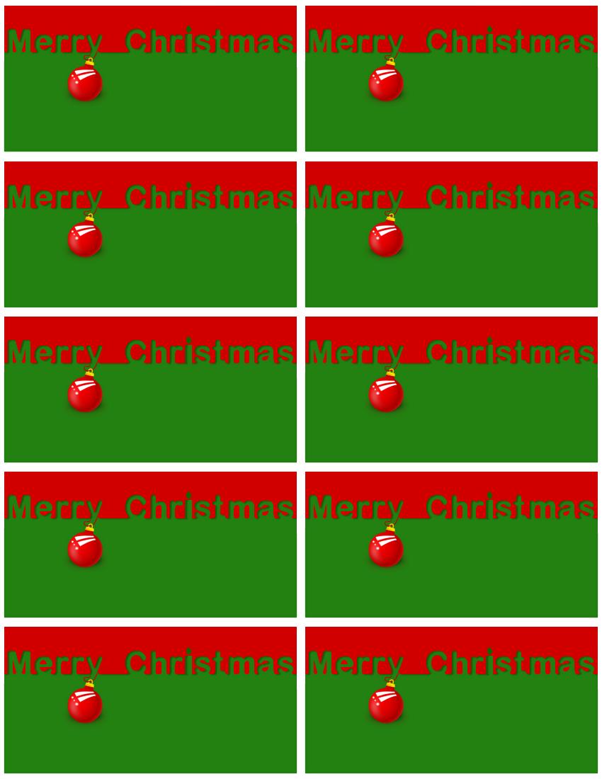 Merry Christmas red green gift tags - /holiday/Christmas/Gift_Tags ...