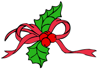 Ribbon With Holly Red