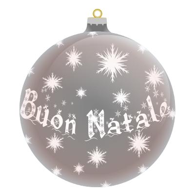 Buon Natale Ornament.Buon Natale Italian Silver Holiday Christmas Ornaments