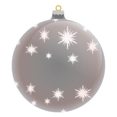 Merry Christmas Ornament Blank Silver
