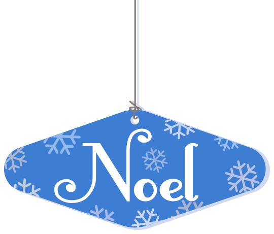 Noel Hanging Ornament Blue