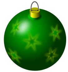 christmas bulb green snowflakes holiday christmas ornaments