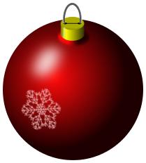christmas bulb red snowflake holiday christmas ornaments