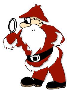 Detective Santa Holiday Christmas Santa Santa Clipart