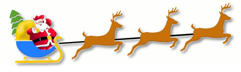 santa sleigh w reindeer 1 - Christmas Santa Reindeer