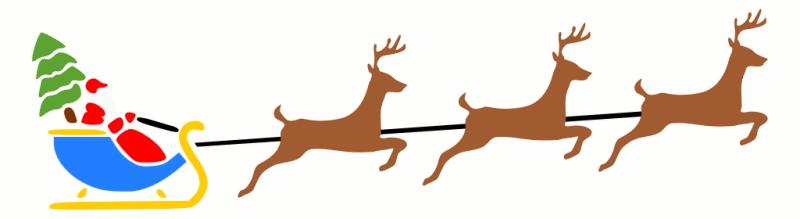 santa sleigh w reindeer 2 - Christmas Reindeer 2