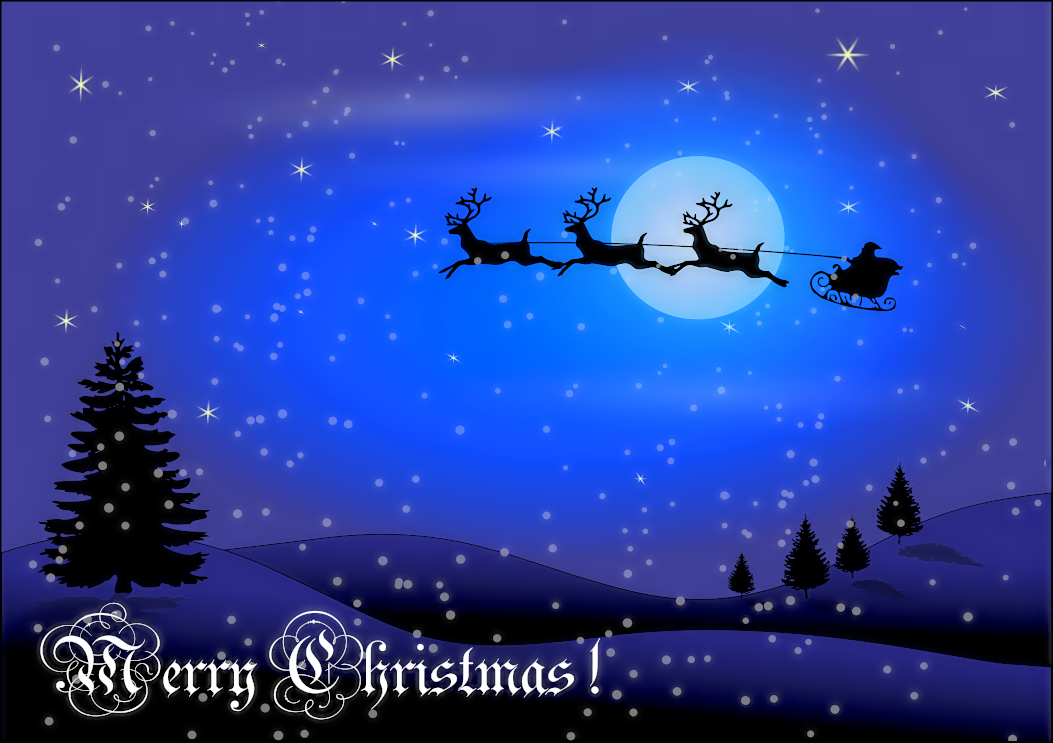 Christmas Card W Words Holiday Christmas Scenes Christmas Card W Words Png Html