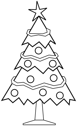christmas tree outline coloring pages - photo#39