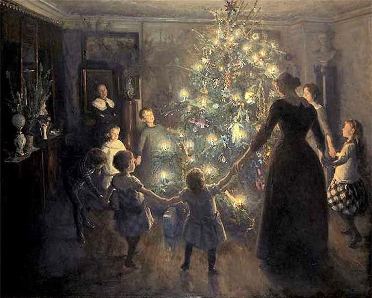 Christmas tree family painting - /holiday/Christmas/trees