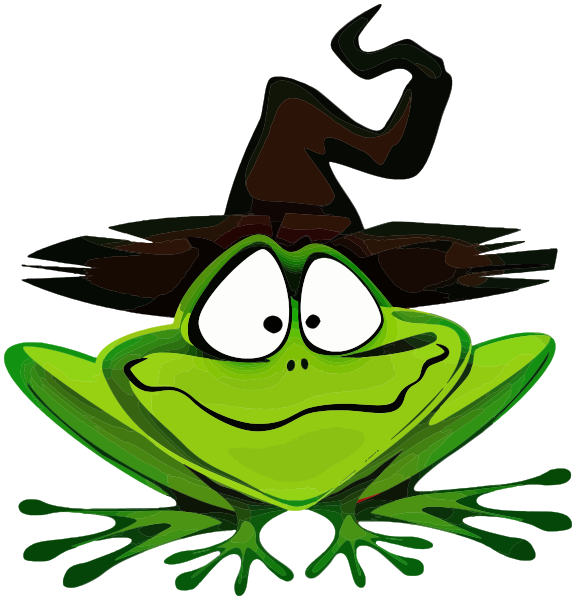 ... witch hat - /holiday/halloween/assorted/frog_wearing_witch_hat.png