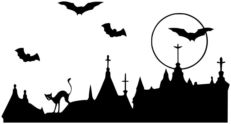bats over steeple   holiday  halloween  bat  bats 2  bats Halloween Graveyard Clip Art Black and White Halloween Graveyard Backgrounds