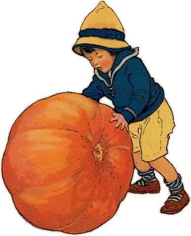 child rolling pumpkin holiday halloween pumpkin more pumpkins