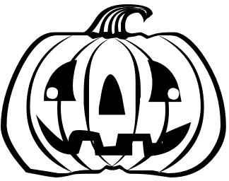 Image result for jack o lantern bw