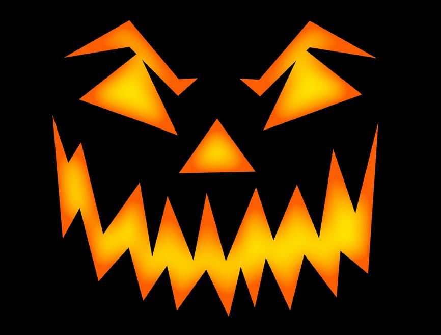 scary halloween face   holiday  halloween  pumpkin  pumpkins Halloween Monster Clip Art Free Halloween Bats Clip Art Free