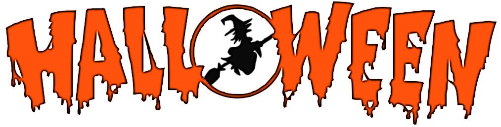 Halloween Word Art Clip Art Line – Clipart Download