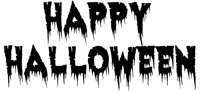 happy halloween haunted BW - /holiday/halloween/spooky_words ...