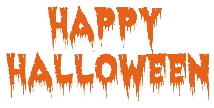 happy halloween haunted orange - /holiday/halloween/spooky_words ...
