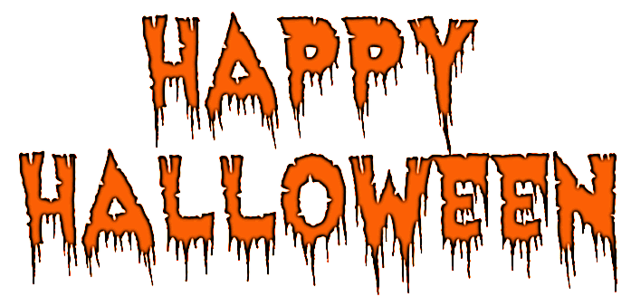 happy halloween haunted outline - /holiday/halloween/spooky_words ...