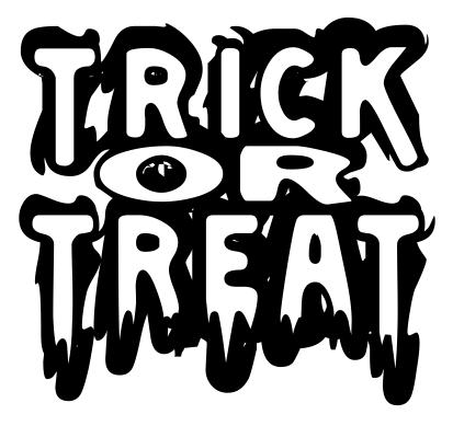 Trick Or Treat Outline  Holidayhalloweentrickortreat