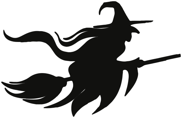 flying witch silhouette - /holiday/halloween/witch/witches_3 ...