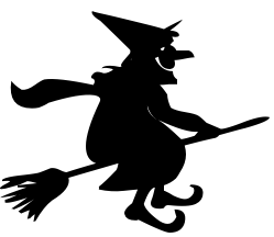 grinning witch on broomstick holidayhalloweenwitch witches_3grinning_witch_on_broomstickpnghtml