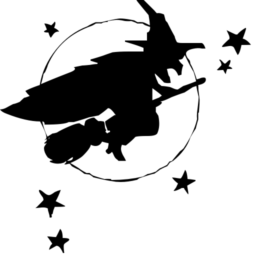 witch flying by stars holidayhalloweenwitch witches_4witch_flying_by_starspnghtml - Flying Halloween Witch