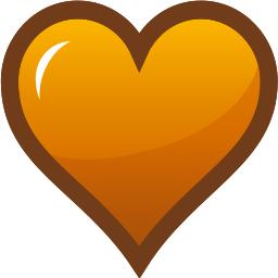 Heart Icon Orange 256 Holiday Valentines Valentine Hearts Heart Icon Heart Icon Orange 256 Png Html