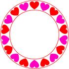 Love Hearts circle 2