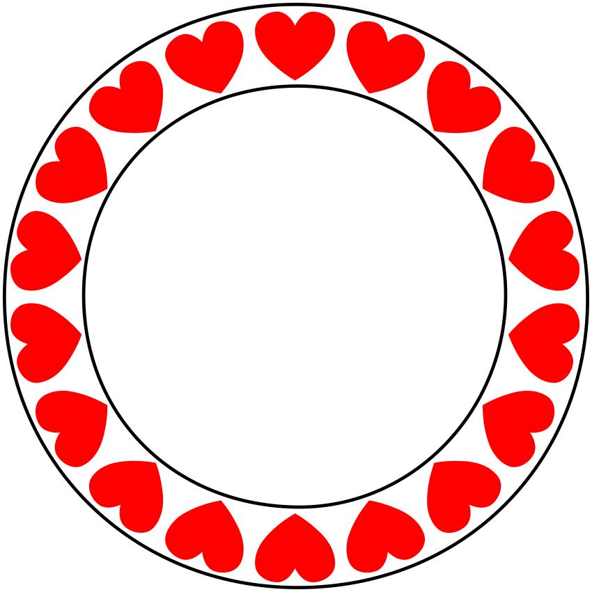 Love Hearts Circle Holiday Valentines Valentine Hearts