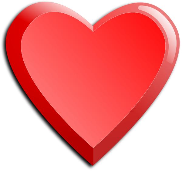 Heart Beveled Holidayvalentinesvalentineheartsshadedhearts