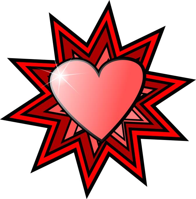Heart Spangle Holidayvalentinesvalentineheartsshadedhearts