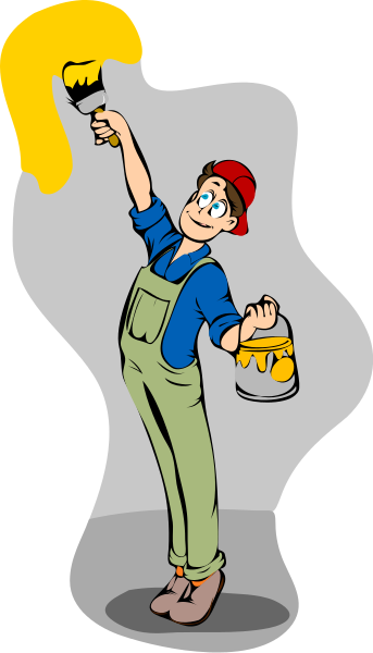 Painting wall household chores painting painting wall for Wall painting utensils