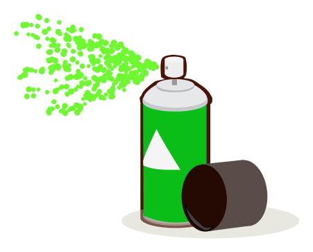 paint can spray green - /household/chores/painting/spray ...