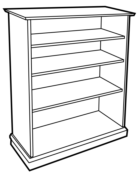 wooden bookcase BW - /household/furniture/bookcase/wooden ...