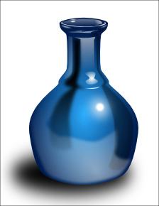 Vase Glossy Blue Household House Plants Vase Glossy