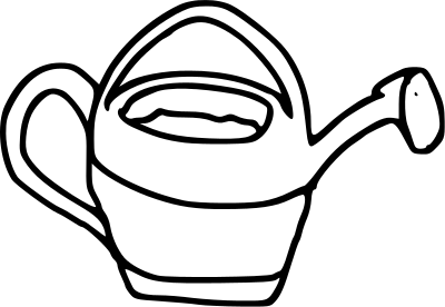 Genial Garden Pail BW. Available Formats To Download:
