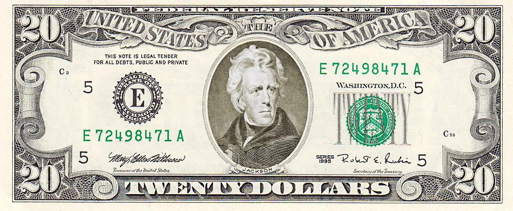 Twenty Dollar Bill US