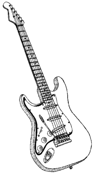 Guitar Drawing Transparent