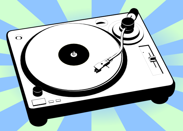Turntable 70s Look Music Listen Vinyl Record Player
