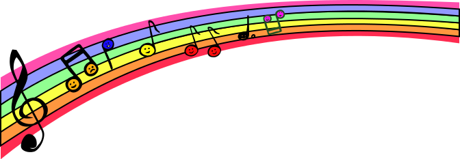 music rainbow notes - /music/notation/music_notes_4/music ... Rainbow Music Notes Border