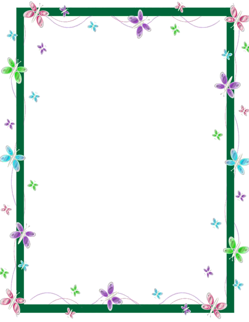 butterfly frame green - /page_frames/animal/butterfly ...