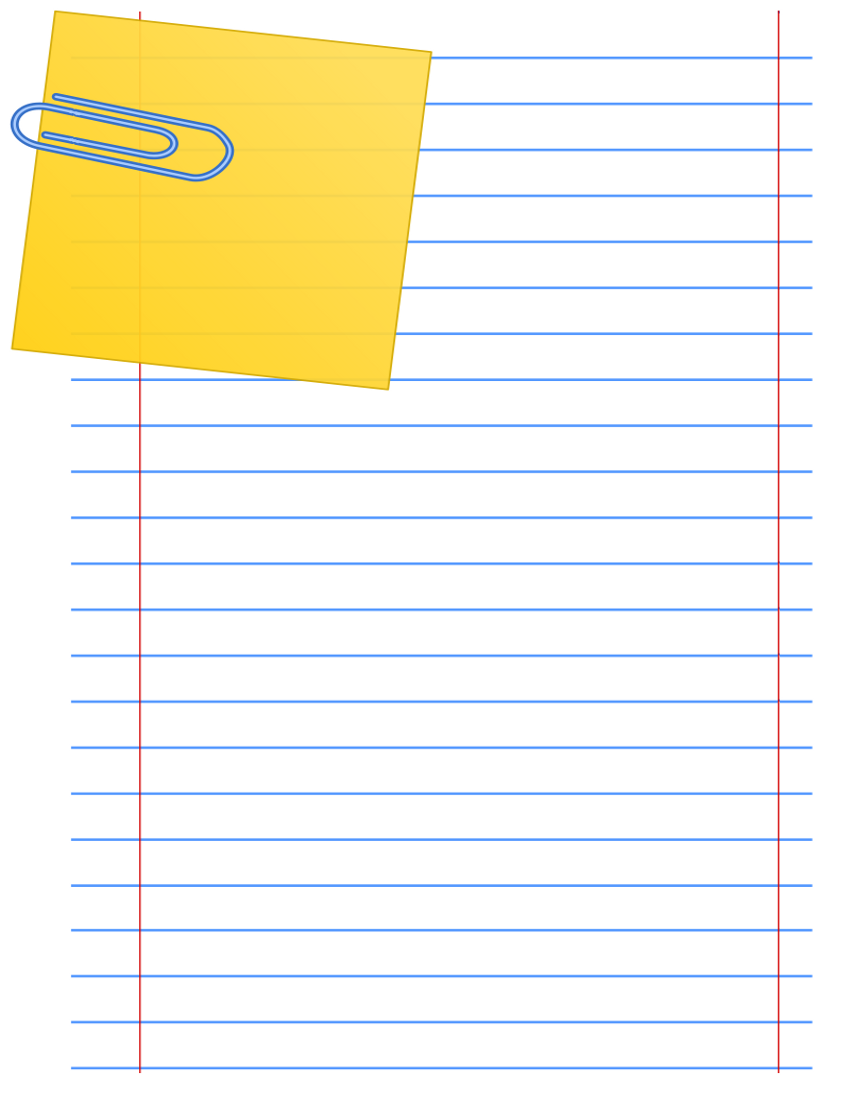 Paper Clip Note Page