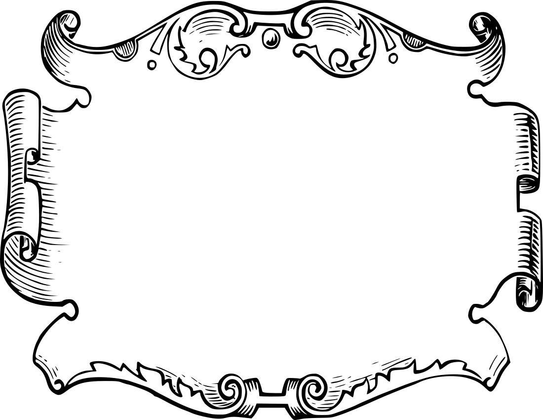 Parchment outline. Page frames background pages