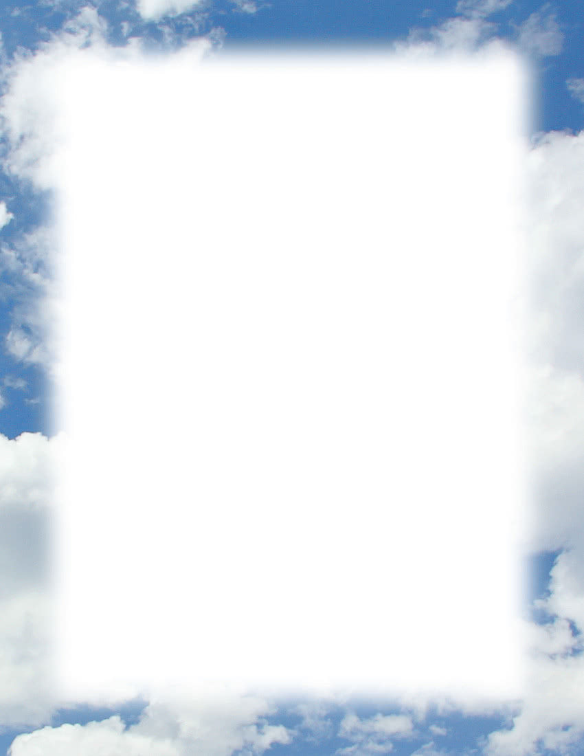 Bluish Sky Border Page Frames Fade To Edge Bluish Sky