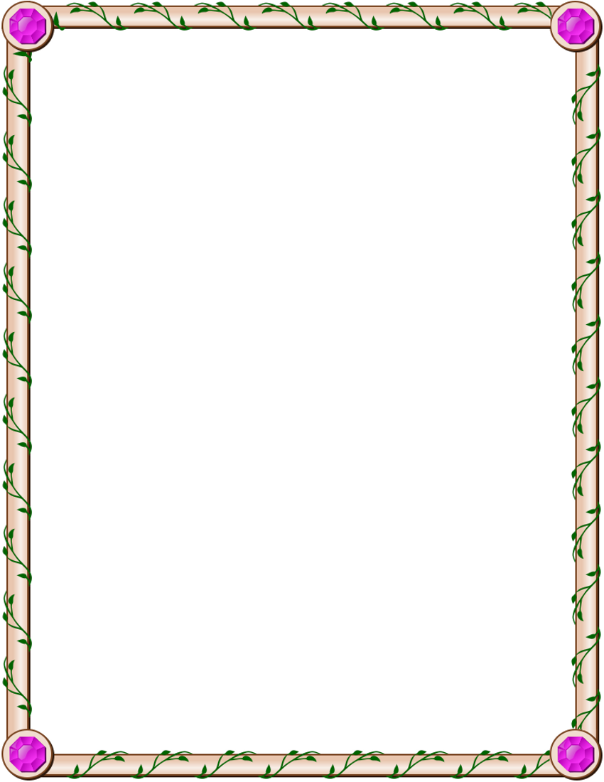 jeweled ivy page frame border page frames floral